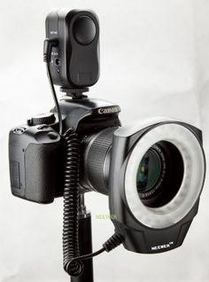 NEEWER 48 LED Ring Light for Macro Canon Nikon Sigma Tamron Lens  for more details visit :http://photocamera.megaluxmart.com/
