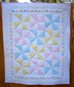 Baby Pinwheel Quilt (The Fleming's Nine)   Squares, Nice and ... : baby pinwheel quilt - Adamdwight.com