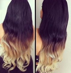 Color 21 black to blonde ombre
