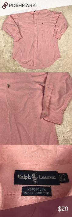 ☀️SALE☀️Ralph Lauren Yarmouth Dress Shirt Men's size 16 1/2 - 33 pink Ralph Lauren Yarmouth long sleeve dress shirt. 100% cotton Oxford. Ralph Lauren Shirts Dress Shirts