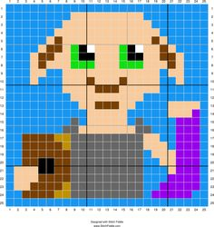 Stitch Fiddle is an online crochet, knitting and cross stitch pattern maker. Stitch Fiddle is an online crochet, knitting and cross stitch pattern maker. Dobby Harry Potter, Harry Potter Fiesta, Harry Potter Crochet, Harry Potter Quilt, Theme Harry Potter, Harry Potter Cross Stitch Pattern, Cross Stitch Pattern Maker, Cross Stitch Patterns, Crochet Patterns
