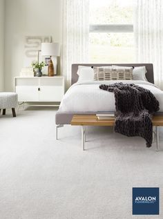Carpet is timeless and perfect for spaces like bedrooms where you need to add some extra comfort  nn#interiordesign #bedroomdesign #carpet #bedroomcarpet