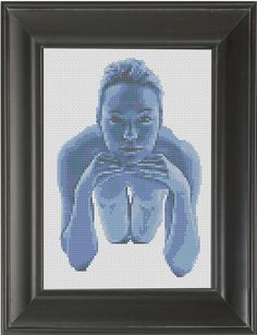 Blue Dream - Cross Stitch Pattern Chart Erotic Nude Sexy NSFW