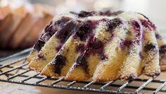 Finnish huckleberry pound cake.