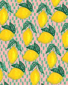 i have a thing for lemons ok Design Textile, Textile Patterns, Design Art, Textiles, Motif Design, Cool Patterns, Beautiful Patterns, Print Patterns, Surface Pattern Design