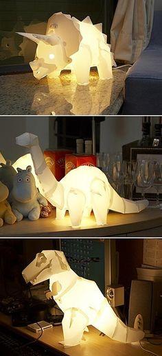 DIY dinosaur lamps - kids room?