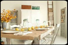 The Old Painted Cottage, Feb. 2012 COTM is the frenchlarkspur cottage Illinois home. Has one of the cutest kitchens.