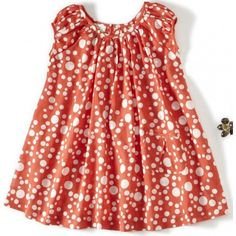 Such a polka dot fanatic! Dagmar Daley Girls Gathered Polka Dot Dress. $74 #Designer #girls #dresses