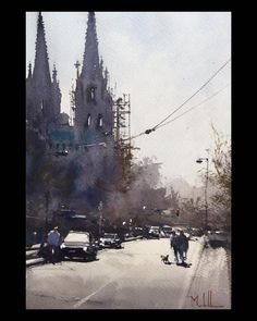 Daniel Marshall, Autumn Restoration. 15x11, Work on the Basilica of the Immaculate Conception, Denver.
