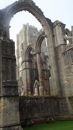 Huby's Tower at Fountains Abbey near Ripon, North Yorkshire, England -