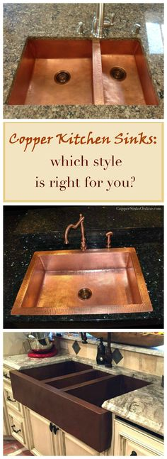Copper kitchen sinks with single, double or triple well split - which kind is right for you? A few useful tips to keep in mind.