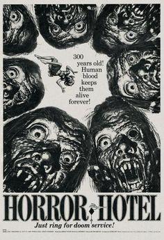 great Jack Davis art for HORROR HOTEL (1960) aka the CITY OF THE DEAD