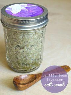 Exfoliante natural: sal de lavanda.