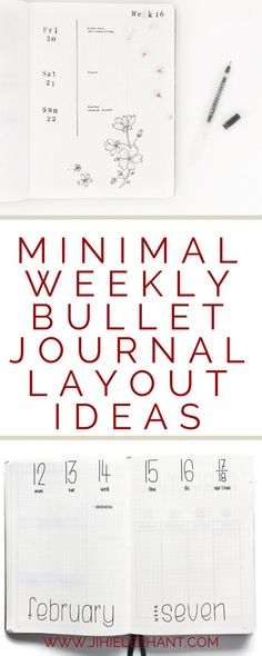 Weekly layouts are often the most common layouts in a bullet journal. I like to change up my layouts every so often and keep them fairly minimal. Below are some great minimal weekly bullet journal layouts that I love and recommend!