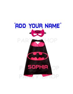 Batgirl custom cape and mask for girls, ADD your child's name,superhero capes,double layer cartoon cosplay.. by PartyShopLLC on Etsy Darth Vader Cape, Custom Capes, Superman Cape, Batgirl Costume, Felt Mask, Superhero Capes, Capes For Women, Frozen Birthday Party, Super Party