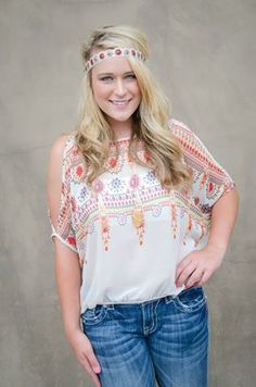 Get this entire cute boho look from Brooklynn's in Downtown Woodstock