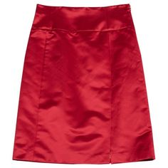 Pre-owned Céline Silk Mid-Length Skirt (151,855 KRW) ❤ liked on Polyvore featuring skirts, pink, women clothing skirts, celine skirt, pink skirt, red knee length skirt, red skirt and red silk skirt