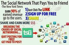 First Social & Payment Platform Where Users Own Their Content has launched!IT`S FREE.The social network pays users who create unique content and who recruit friends onto their platform. Paying out 90% of ad revenue.Create your free account today and start earning!https://www.tsu.co/draganr
