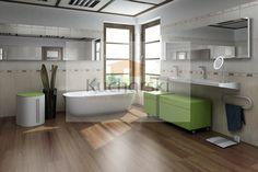 Nazienka nowoczesna zielone meble do łazienki