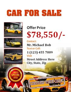 Car Sale Flyer Design  Free Flyer Designs    Sale