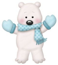 WINTER TEDDY BEAR CLIP ART