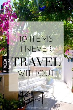After a few extended trips, travelling with different seasons, modes of transport and living out of suitcases you really learn to cherish particular items. Due to luggage restraints learning the art o Packing Tips For Travel, Travel Advice, Travel Essentials, Travel Hacks, Traveling Tips, Travel Info, Travel Stuff, Travel Quotes, Travel Blog