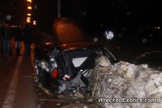 Ferrari 458 Italia crashed in Taranto, Italy