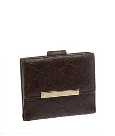 001665319fc7 Get the lowest price on Gucci Dark Brown Guccisima Snap Fold Wallet (19253)  and other fabulous designer clothing and accessories! Shop Tradesy now