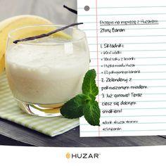 Dziś coś słodkiego, gęstego i orzeźwiającego ;) Ulubiona wódka, sok z limonki, banan i oczywiście nasz miód, to wszystko czego potrzeba by rozkręcić #imprezazhuzarem! #drink #przepis #złotybanan #wódka #impreza #miód #Huzar