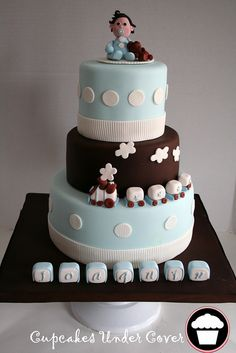 - joaquin baptismal cake - by ~Cupcakes Under Cover~, via Flickr