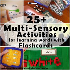 Suzie's Home Education Ideas: 25+ Multi-sensory Activities for learning words with Flashcards