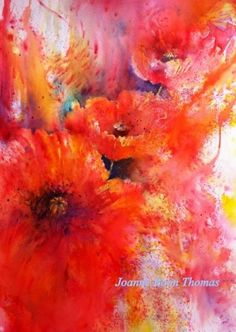 Brusho poppies by Joanne Boon Thomas
