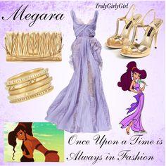 Disney Style: Megara, created by trulygirlygirl Disney Prom Dresses, Disney Princess Outfits, Disney Dress Up, Disney Themed Outfits, Disney Bound Outfits, Disney Princesses, Moda Disney, Masquerade Dresses, Masquerade Attire