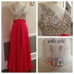 Pretty in Pink! Today's #lookoftheday is this pink gown from The Coya Collection! We love the heavily embellished top on this one! #thecoyacollection #poffiegirls #prom2015