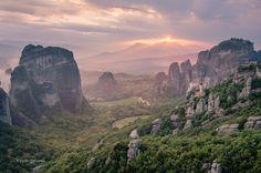 Meateora Sunset | Meteora, Thessaly, Greece. Piotr Gaborek.