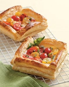 Tomato Tarts | Cuisine at home eRecipes  I've tried this recipe.  It's always a crowd pleaser.