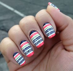 Spring Nail Art Images - Nail design is among the most prominent fashion trends of today, and nail paint is not that cruci Cute Spring Nails, Spring Nail Art, Nail Designs Spring, Toe Nail Designs, Sassy Nails, Tribal Nails, Nail Art Images, Nail Tutorials, Simple Nails
