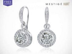 Crystal Liberty Earrings Made with Swarovski Elements + Free Shipping... Was $59.00... Today Only $19.00