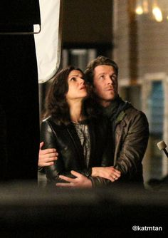 Lana & Sean filming scenes for the season finale - April 1, 2015