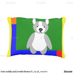 Cute cuddly and Lovable Boston Terriers Accent Pillow