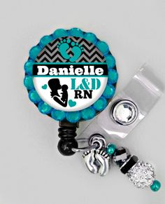 Retractable ID Badge Reel - L&D-Personalized Labor and Delivery Nurse Badge ID Reel - Medical- Can put any Title by Badgetopia on Etsy https://www.etsy.com/listing/217598002/retractable-id-badge-reel-ld