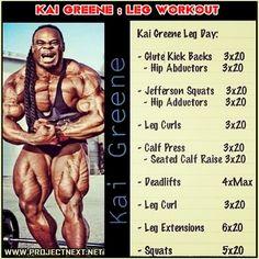 Kai Greene: Leg Workout ! Never Skip Leg Day And Be Legendary Ab