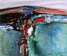 By the late John Blockley. Landscape Artwork, Contemporary Landscape, Watercolor Landscape, Abstract Watercolor, Contemporary Paintings, Abstract Landscape, Abstract Art, Watercolor Artists, Watercolor Paintings