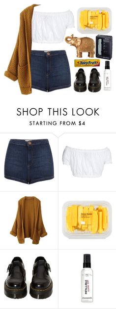 """everybody's in"" by haomind on Polyvore featuring мода, Topshop, GERMAN PRINCESS, MANGO, Dr. Martens, Sony, L'Oréal Paris, FRUIT и Mario Luca Giusti"
