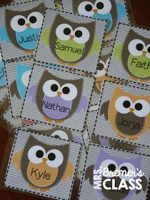 EDITABLE Owl labels- you can use them for anything!