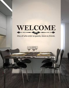 Art Decal: Wall Decal Life Quotes: Welcome Vinyl Decals, Wall Decals, Wall Art, Welcome May, Creative Wall Decor, Positive Outlook On Life, Life Is Beautiful Quotes, Decorating Your Home, Life Quotes