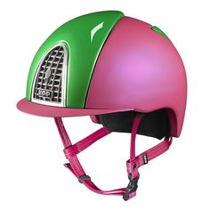 Pink, the color of energy and happiness! Green, the color of nature and life itself! Design your own KEP Italia helmet: one and only! Horse Riding Helmets, Riding Hats, Dog Toy Box, Toy Boxes, One And Only, Dog Toys, Design Your Own, Bespoke, Happiness
