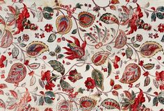 Floral printed fabric. France, late 18th century