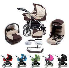 ★★★ Baby Pram Buggy Pushchair Stroller X7 3in1 Wózek Dziecięcy + Car seat Jogger