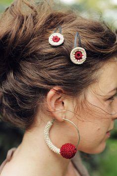Crochet Earrings - Crochet Jewelry.